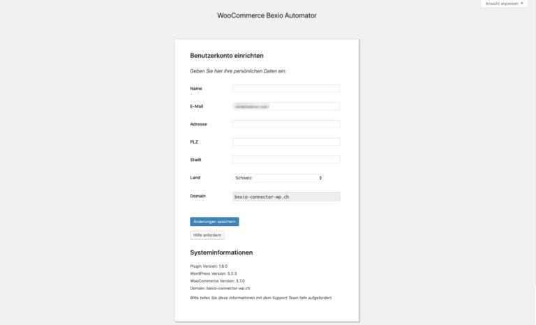 Raptus woocommerce bexio automator registration de