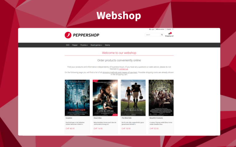 Webshop en